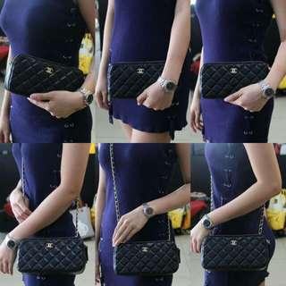 Chanel Double Zipper Lambskin