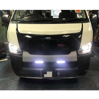 HIACE DAY RUNNING LIGHT + SAMURAI LIP
