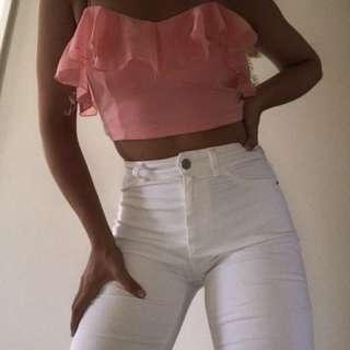 Dotti pink crop top