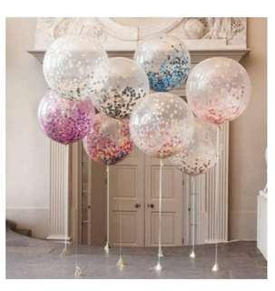 Paper decorative fans/confetti balloons