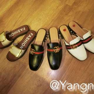古馳風低跟拖鞋包鞋Gucci