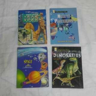 Dinosaurs, Natural phenomena, Space & 7 wonders of the world