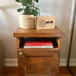 Pine cupboard/bedside table/bar cart