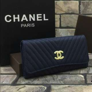 Chanel Chevron Purse Blue Color