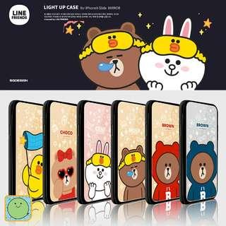 Line Friends Slide Flashing Card Case 來電閃燈八達通鏡面手機殼 (PC1803)