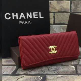 Chanel Chevron Purse Red Color