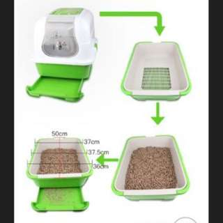 (SOLD) Covered With Sieve Tray Litter Box