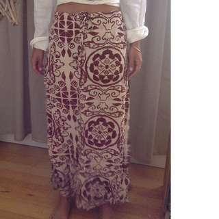 Festival batik maxi skirt