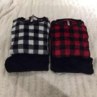 Matching Fuzzy PJ Set - Slim & Warm - Size S