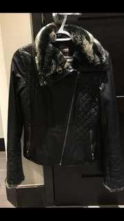 WANT: Leather biker coat 2xs/3xs