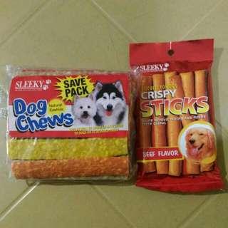 Sleeky Dog Chews and Crispy Sticks