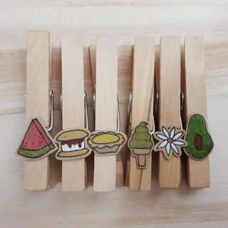 DIY designed wooden pegs
