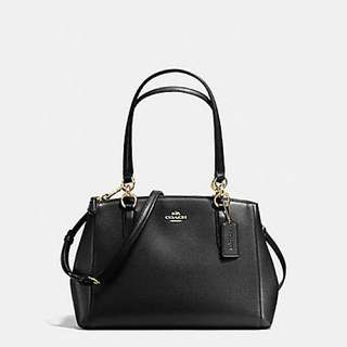 COACH SMALL CHRISTIE CARRYALL IN CROSSGRAIN LEATHER 名牌 手袋