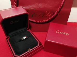 Authentic Brand new Cartier 3 diamonds love ring