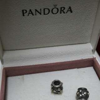 Pandora 14K Plus Silver Flower Charm