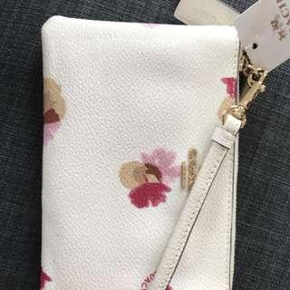 Coach floral wristlet