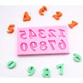 Number Fondant/clay silicone mold