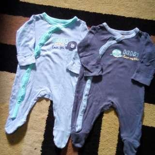 Mothercare sleepsuit 2pcs