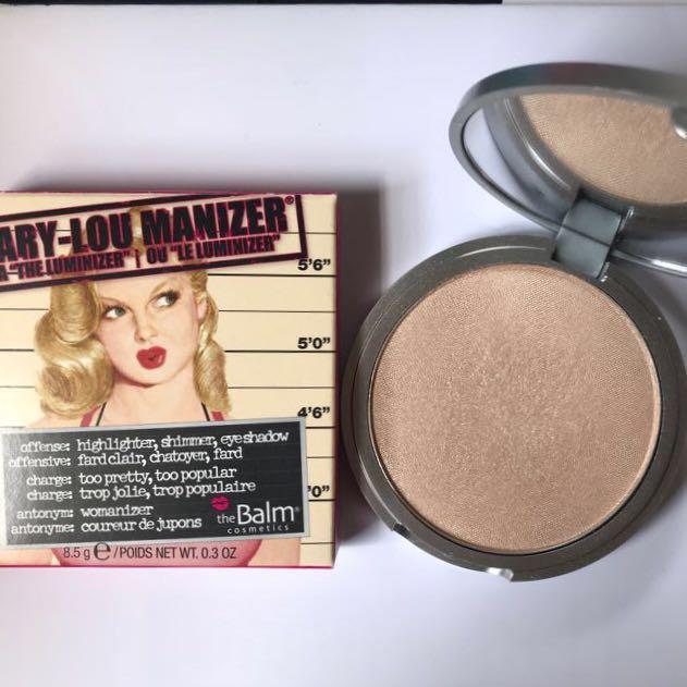 d607e42da 100% Authentic The Balm Mary-Lou Manizer Highlighter, Health ...