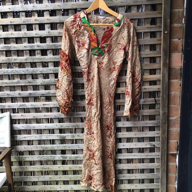 100% Indian silk dress