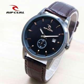 Jam tanhan Ripcurl 2190 kulit tgl Diameter 4,3 crono detik