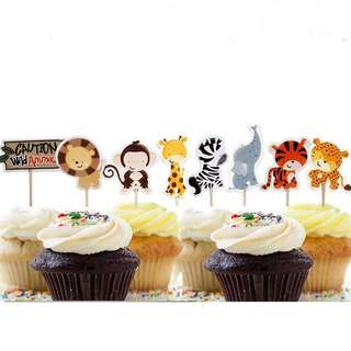 Cute Animal Cupcake toppers