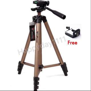 Promotion 😱New Stock Weifeng WT3130 Protable Lightweight Aluminum Camera Tripod With Carry Bag(Suitable DSLR) - Free Phone Clip