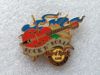 Hard Rock Cafe Pins ~ NIAGARA FALLS (NY) HOT 2014 TATTOO GUITAR PIN!