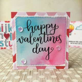 Customised Handmade Valentine's Day Card - Happy Valentine's Hand Letting Calligraphy