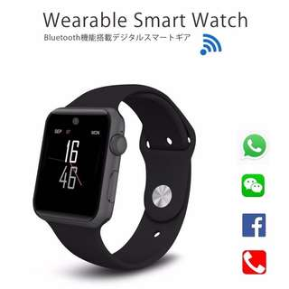 [熱賣中] 智能手錶 Smart Watch- WHATSAPP ,WECHAT FB IG QQ 信息顯示/來電顯示/心率監測/卡路里計算 /計步器/睡眠監測 IP32 Fitness Tracker Heart Rate Monitor Pedometer for iPhone Android (black)
