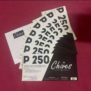 Chives 2k worth of vouchers