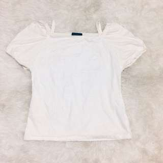 Cut shoulder white