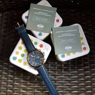FOSSIL WATCHES ORIGINAL BLUE LEATHER