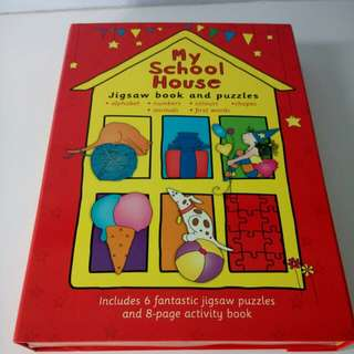 Jigsaw book and puzzles