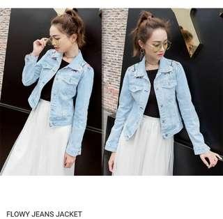 Flowy jaket jeans