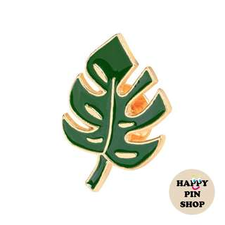 Tropical Monstera Leaf Enamel Pin