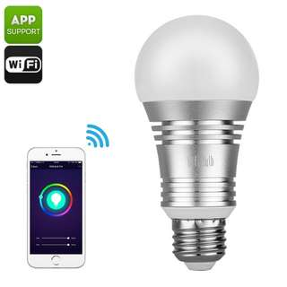 Smart WiFi LED Bulb - 600 Lumens, 16 Million Colors, Amazon Echo Compatible (CVJI-LT416)