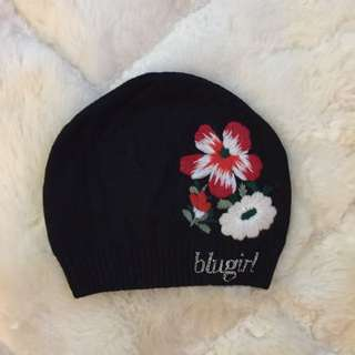 Blugirl rose embroidered hat