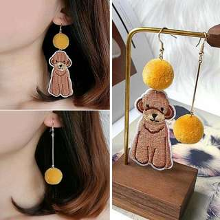 Anting Korea Pompom Cartoon