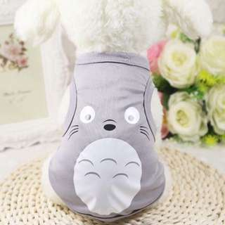 Dog Shirt Sleeveless Sando Totoro Design