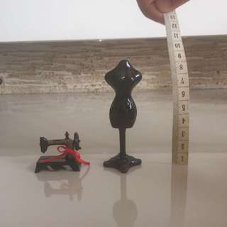 Miniatures - Mannequin And Sewing Machine