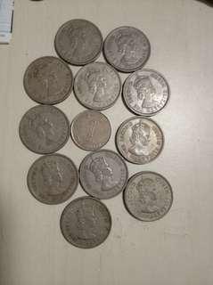 舊港幣11只大1无,共收80元