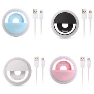 Rechargable selfie ring light selfie light 3 colors & brightness