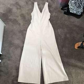 Jumpsuit v neck flare 3/4 pants