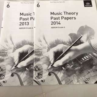 ABRSM Music Theory Past Papers 2013 &2014 grade 6