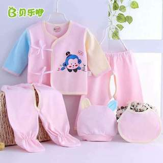 5 pc Set of Pink Baby Clothes