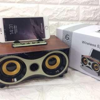 全新 XM-6 無線藍芽木質音箱