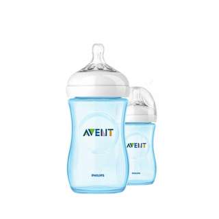 AVENT NATURAL PINK@BLUE 260ML(9OZ) TWIN PACK