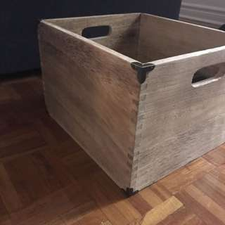 Wood Storage Box - New without tags