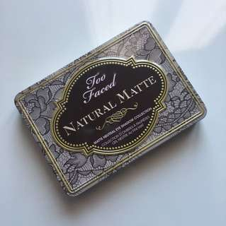 Authentic Too Faced Natural Matte Palette
